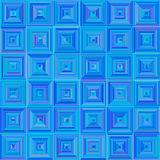 Nahtloses quadratisches blaues Muster lizenzfreie abbildung