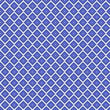 Nahtloses quadratisches Muster des traditionellen blauen Pixels Stockbilder