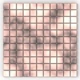 Nahtloses quadratisches Rosa farbiges Mosaikmuster Lizenzfreies Stockbild