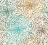 Nahtloses Radialmuster Geflecht des abstrakten Hintergrundes stock abbildung