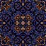 Nahtloses Rastermuster in psychedelischem Muster Mosaik orientalischer Art Blume für Tapete, Hintergründe, Dekor für Tapisserien  lizenzfreie abbildung