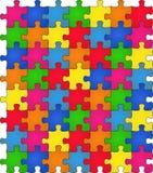 Nahtloses Regenbogen-Puzzlespiel Stockfotos