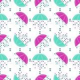 Nahtloses Regenschirmmuster Stockfotos