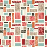 Nahtloses Retro- abstraktes buntes Muster Stockfotografie