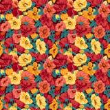 Nahtloses Retro- des Blumenmusters. Lizenzfreie Stockbilder