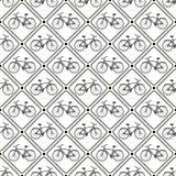 Nahtloses Retro- Fahrradmuster des Vektors. Lizenzfreie Stockfotografie