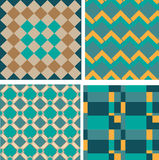 Nahtloses Retro- geometrisches dekoratives Muster Lizenzfreies Stockfoto