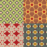 Nahtloses Retro- geometrisches dekoratives Muster Vektor Abbildung