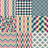 Nahtloses Retro- geometrisches Muster Stockbilder