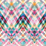 Nahtloses Retro- geometrisches Muster mit Zickzacklinien Lizenzfreies Stockfoto