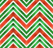 Nahtloses Retro- geometrisches Muster mit Zickzacklinien Stockbild
