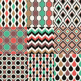 Nahtloses Retro- geometrisches Tapetenmuster Stockfotografie