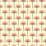 Nahtloses Retro- Muster des stilisierten Löwenzahns Stockfotografie