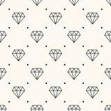 Nahtloses Retro- Muster des Vektors, mit Diamanten. Lizenzfreie Stockfotos