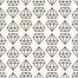 Nahtloses Retro- Muster des Vektors, mit Diamanten Stockbilder