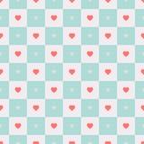 Nahtloses Retro- Muster des Vektors mit Herzen Lizenzfreies Stockfoto