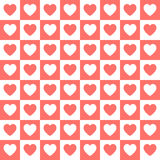 Nahtloses Retro- Muster des Vektors mit Herzen Lizenzfreie Stockfotografie
