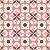 Nahtloses Retro- Muster mit abstrakten Florenelementen Stock Abbildung