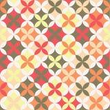 Nahtloses Retro- Muster mit geometrischen Formen Stockfotografie