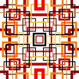 Nahtloses Retro- Muster mit Quadraten Lizenzfreies Stockfoto