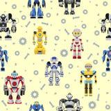 Nahtloses Robotermuster Lizenzfreie Stockbilder