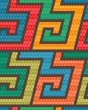Nahtloses Rollen-Muster Mischung von Dreiecken und von Streifen Stockbild