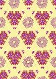 Nahtloses romb ethno Stammes- Hintergrund Endloses geometrisches Muster vektor abbildung