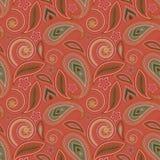 Nahtloses rosa geometrisches Muster mit Paisley und Blumen Weihnachtsmann in einer Schutzkappe, in den Kopfhörern, mit einem Weih Lizenzfreies Stockbild