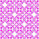Nahtloses rosa Muster auf weißem Hintergrund Lizenzfreie Stockfotografie