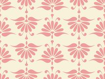 Nahtloses rosafarbenes Blumenmuster Lizenzfreies Stockfoto