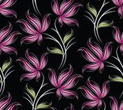 Nahtloses Rosarosen-Blumenmuster Stockbild