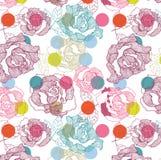 Nahtloses Rosen-Muster Lizenzfreie Stockbilder