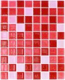 Nahtloses rotes Quadrat deckt Muster mit Ziegeln Stockfotografie