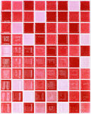Nahtloses rotes Quadrat deckt Muster mit Ziegeln Lizenzfreies Stockbild