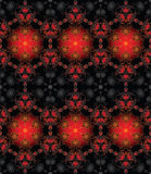 Nahtloses rotes schwarzes Gold Stockbild
