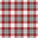 Nahtloses rotes, weißes u. schwarzes Plaid Lizenzfreies Stockfoto