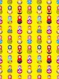 Nahtloses russisches Puppenmuster Lizenzfreies Stockfoto