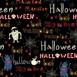 Nahtloses Süßes sonst gibt's Saures Muster Halloweens. Lizenzfreie Stockfotografie