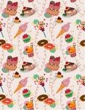 Nahtloses Süßigkeitmuster Lizenzfreies Stockfoto