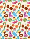 Nahtloses Süßigkeitmuster Stockfotos