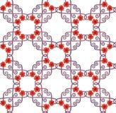 Nahtloses schickes dekoratives Mohnblumenmuster lizenzfreie abbildung