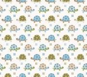 Nahtloses Schildkröte-Muster Stockbilder