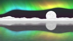Nahtloses Schleifenvideo des arktischen Pfostens vektor abbildung
