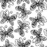 Nahtloses Schmetterlingsmuster Lizenzfreie Stockfotos
