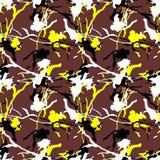Nahtloses Schmutzfarbdesignmuster Stockbilder