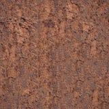 Nahtloses Schmutzmetallrostiger Eisenhintergrund durch übergroßes Foto Stockbilder