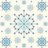 Nahtloses Schneeflocke-Hintergrund-Muster Stockbilder