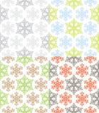 Nahtloses Schneeflocke-Muster Stockbilder