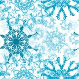 Nahtloses Schneeflockemuster,   stock abbildung