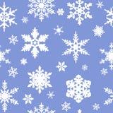 Nahtloses Schneeflockemuster Stockbilder